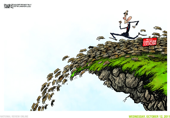 President Obama is spending like crazy (Obama running off ... Obama Lemmings Jumping Off A Cliff