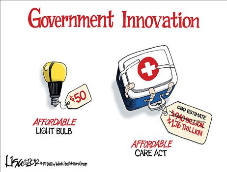 Government Stupidity Defies Satire When A 50 Light Bulb Wins An