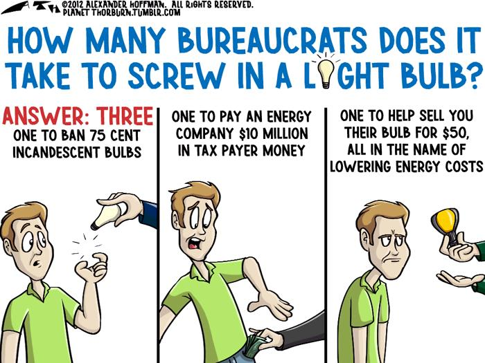 How Many Bureaucrats Does It Take To Screw In A Light Bulb