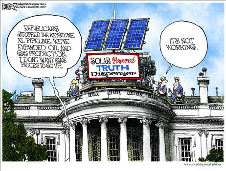 Obama Energy Lies Cartoon