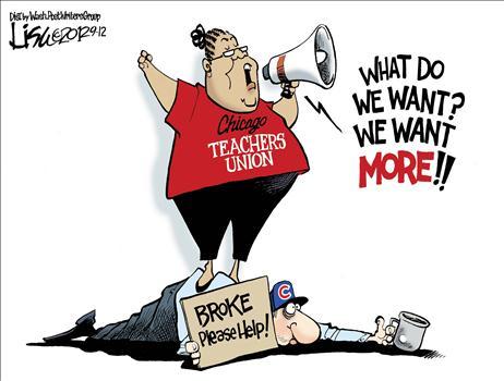 Image result for teacher's union cartoons