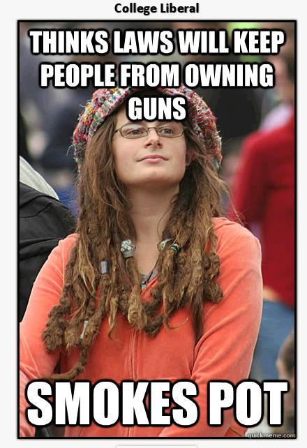 smokes pot gun control