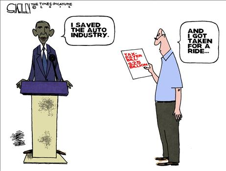 Image result for obama gm bailout cartoons