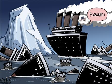 Cartoon Obama Iceberg