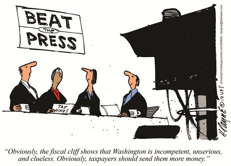 Cartoon Beat the Press Tax Hikes