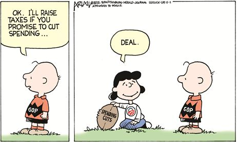Cartoon Fiscal Cliff 3