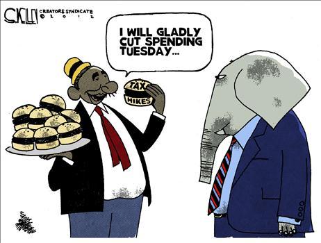 Cartoon Fiscal Cliff 6