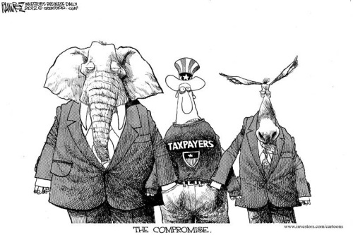Cartoon GOP Dem Pickpocket
