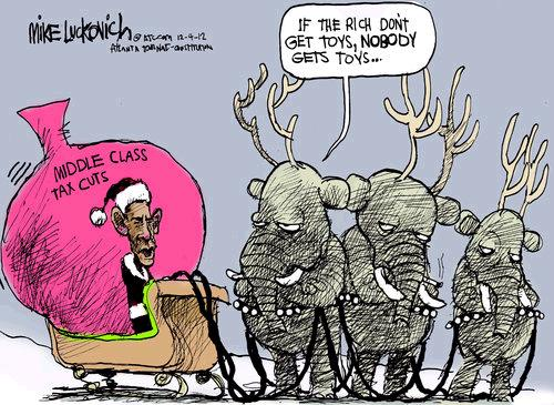 Cartoon GOP Reindeer