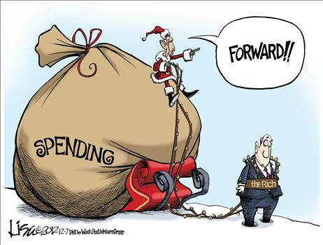 Cartoon Grinch Spending