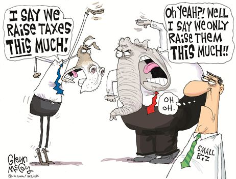 GOP Dem Fiscal Cliff Cartoon