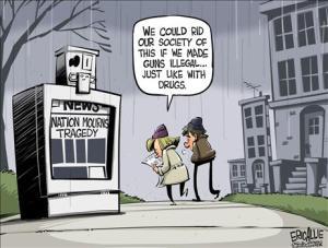 Gun Control Cartoon Drug War