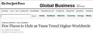 New York Times Tax Competition Headline
