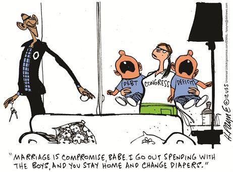 Obama Fiscal Cliff Cartoon 1