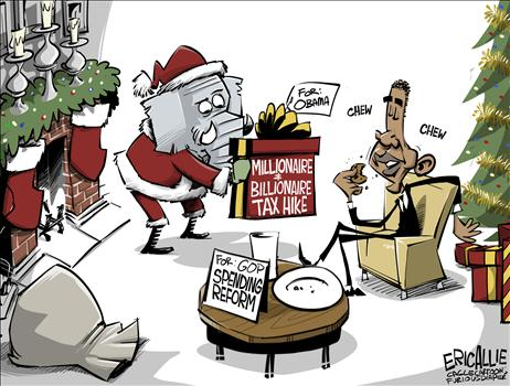 Obama Fiscal Cliff Cartoon 2