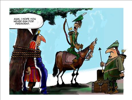 Obama Reverse Robin Hood