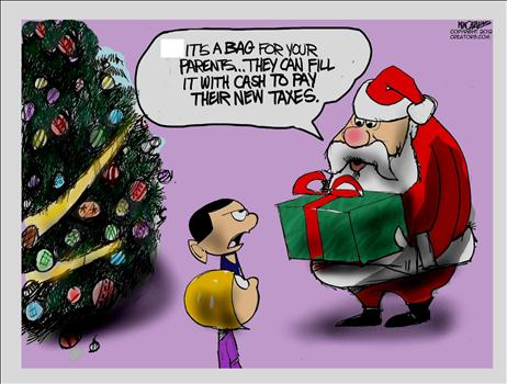 Santa Higher Taxes