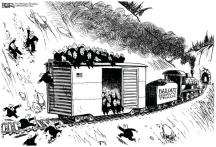 Bailout gravy train cartoon
