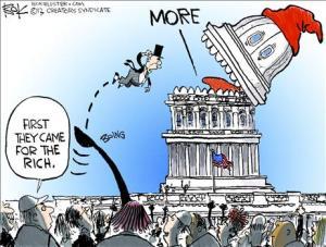 Catapult the rich cartoon