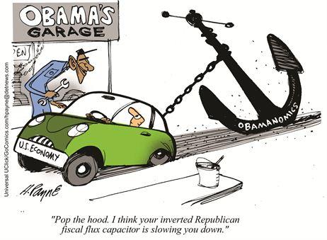 Cartoon Obamanomics Anchor