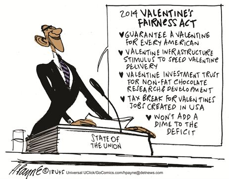 Obama Valentine Cartoon