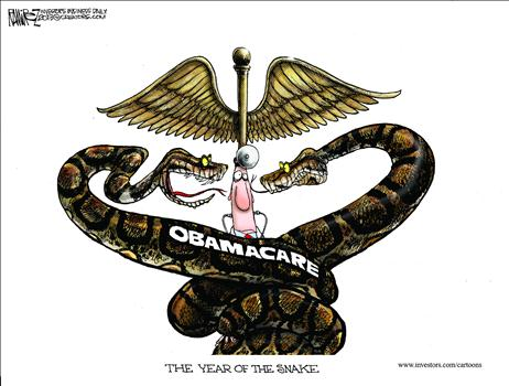 Obamacare Snake Cartoon