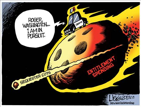 Sequester Cartoon Benson