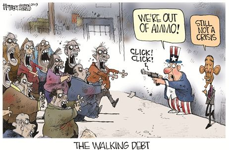 Cartoon Debt Zombie