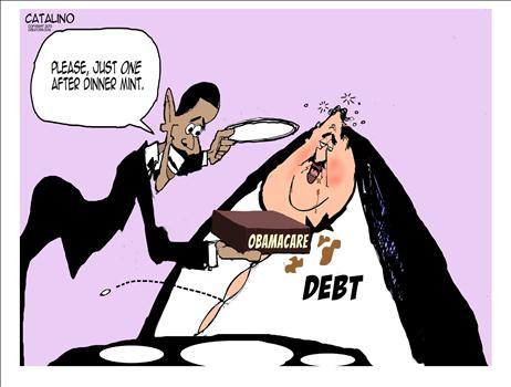 Cartoon Obamacare Debt