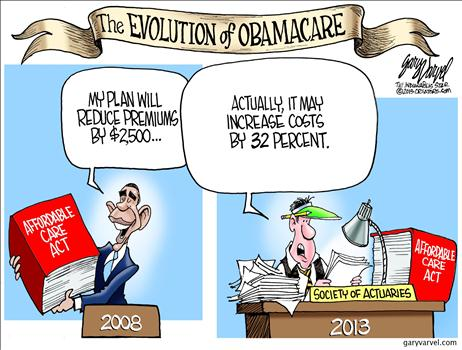 Image result for obama care cartoons images