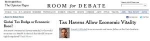 NYT Tax Haven Room for Debate