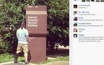 Evan-Mathis-Peeing-IRS-Sign