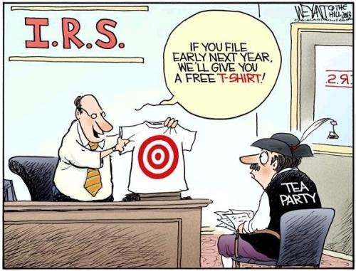 IRS Tea Party Cartoon 1