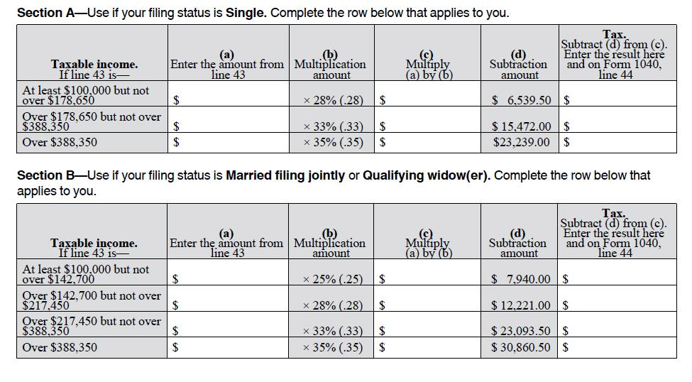 Congratulations to Gay Americans Who Are Now Eligible for the Tax – Tax Computation Worksheet