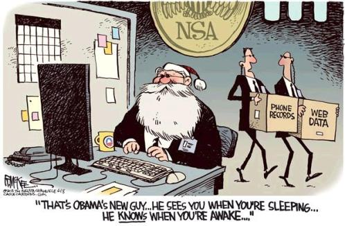 Image result for cartoons obama spied on american people using NSA