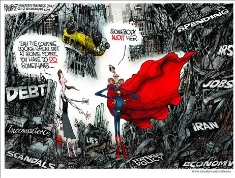 Super-Obama Cartoon