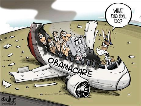Image result for cartoons on obamacare collapse