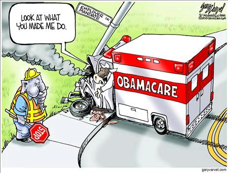 Obamacare Cartoon July 15 3