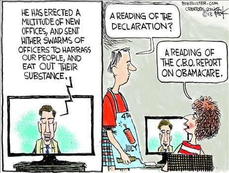 Obamacare Cartoon July 2013 1