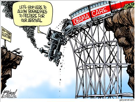 Obamacare Cartoon July 2013 2