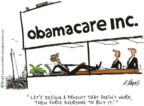 Obamacare Cartoon Oct 2013 3