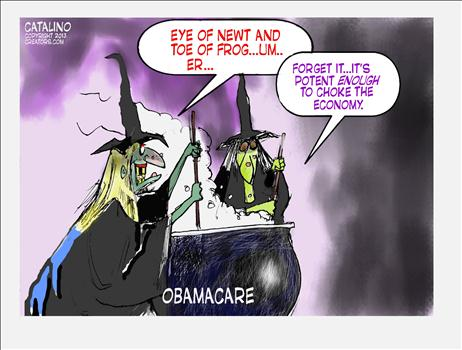 Obamacare Halloween Witch