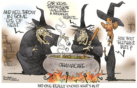Obamacare Halloween Witches