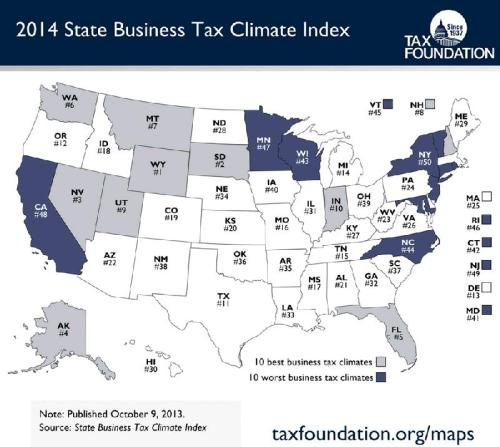Tax Foundation State Tax Ranking