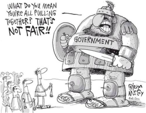 Government Goliath Cartoon