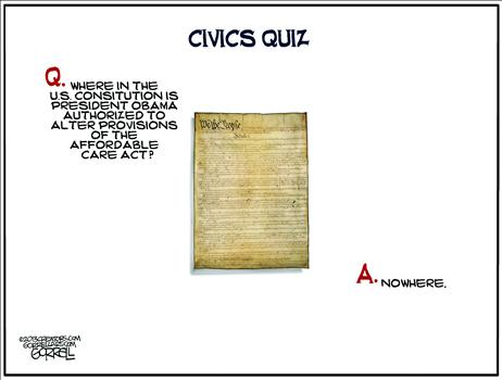 Nov 2013 Obamacare Constitution Cartoon