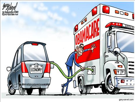 Nov 2013 Obamacare Economy Cartoon
