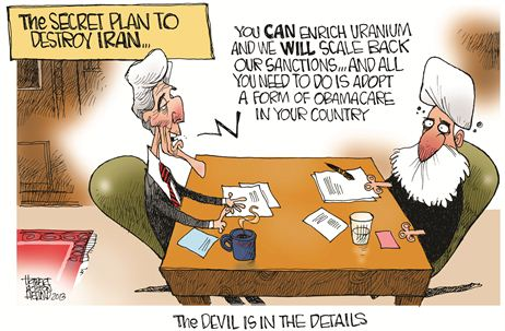 Nov 2013 Obamacare Iran Cartoon