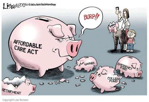 Obamacare Cost Cartoon