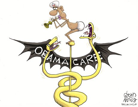 Obamacare Snakes Cartoon